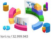 Various visualisation at trading environment - 3d rendering. Стоковое фото, фотограф Elnur / Фотобанк Лори