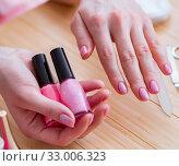 Купить «Beauty products nail care tools pedicure closeup», фото № 33006323, снято 31 мая 2017 г. (c) Elnur / Фотобанк Лори
