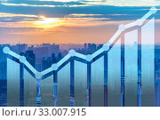Economic growth concept with charts. Стоковое фото, фотограф Elnur / Фотобанк Лори