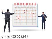 Купить «Business calendar concept with businessman», фото № 33008999, снято 7 апреля 2020 г. (c) Elnur / Фотобанк Лори