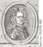 Roger de Rabutin, Comte de Bussy, also known as Bussy-Rabutin, 1618 -1693. French memoirist. After a 17th century work. (2019 год). Редакционное фото, фотограф Classic Vision / age Fotostock / Фотобанк Лори