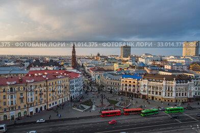 Казань. Вид на центр города. Пешеходная улица Баумана