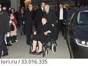 Princess Margarita of Borbon, Carlos Zurita, Maria Zurita, Alfonso Zurita attends Princess Pilar of Borbon Mass Funeral at La Almudena Cathedral on January 31, 2020 in Madrid, Spain. Редакционное фото, фотограф Manuel Cedron / age Fotostock / Фотобанк Лори