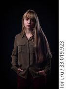 Portrait of a blue-eyed slum girl. Стоковое фото, фотограф Иванов Алексей / Фотобанк Лори