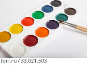 Купить «Watercolor paints», фото № 33021503, снято 3 февраля 2020 г. (c) Юлия Бабкина / Фотобанк Лори