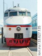 Купить «Electric high-speed train locomotive cabin», фото № 33027135, снято 29 июня 2019 г. (c) EugeneSergeev / Фотобанк Лори