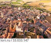 Aerial view on the Medina de Rioseco. Valladolid province. Castilla y Leon. Spain (2019 год). Стоковое фото, фотограф Яков Филимонов / Фотобанк Лори