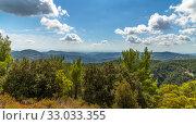 Купить «View from Olymbos, the highest peak of the island of Cyprus.», фото № 33033355, снято 8 октября 2019 г. (c) Володина Ольга / Фотобанк Лори