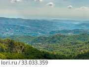 Купить «View from Olymbos, the highest peak of the island of Cyprus.», фото № 33033359, снято 8 октября 2019 г. (c) Володина Ольга / Фотобанк Лори