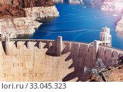 Colorado river Hoover Boulder Dam Nevada Arizona (2015 год). Стоковое фото, фотограф Сергей Новиков / Фотобанк Лори
