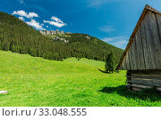 Traditional wooden cabin in Chocholowska Valley in Tatra National Park. Стоковое фото, фотограф Zoonar.com/Mjucha / easy Fotostock / Фотобанк Лори
