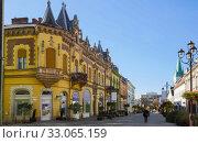 Street of Kaposvar, Hungary (2017 год). Стоковое фото, фотограф Яков Филимонов / Фотобанк Лори