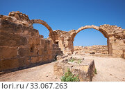 Купить «The remains of Saranta Kolones castle. Paphos Archaeological Park. Cyprus», фото № 33067263, снято 8 июня 2018 г. (c) Serg Zastavkin / Фотобанк Лори