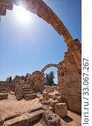 Купить «The remains of Saranta Kolones castle. Paphos Archaeological Park. Cyprus», фото № 33067267, снято 8 июня 2018 г. (c) Serg Zastavkin / Фотобанк Лори