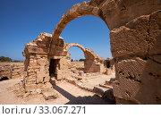 Купить «The remains of Saranta Kolones castle. Paphos Archaeological Park. Cyprus», фото № 33067271, снято 8 июня 2018 г. (c) Serg Zastavkin / Фотобанк Лори