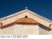 Купить «Roof of the church of Virgin Mary Valas (Valana). Lania village. Cyprus», фото № 33067291, снято 9 июня 2018 г. (c) Serg Zastavkin / Фотобанк Лори