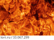 Blaze red fire natural background. Dangerous firestorm abstract texture. Стоковое фото, фотограф А. А. Пирагис / Фотобанк Лори