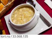 Купить «Tasty dish of japanese cuisine snail soup in bowl», фото № 33068135, снято 17 февраля 2020 г. (c) Яков Филимонов / Фотобанк Лори