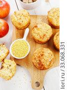 Купить «Millet muffins with apple», фото № 33068331, снято 30 марта 2019 г. (c) Надежда Мишкова / Фотобанк Лори