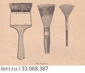 Купить «Кисти для рисования масляными красками», иллюстрация № 33068387 (c) Илюхина Наталья / Фотобанк Лори