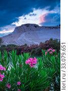 Pamukkale Mountain in Turkey (2019 год). Стоковое фото, фотограф Sergii Zarev / Фотобанк Лори