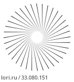 Купить «Abstract 3D background with simple geometric figure. Goes deep line. Stylized mandala elements isolated on white. Vector», иллюстрация № 33080151 (c) Dmitry Domashenko / Фотобанк Лори