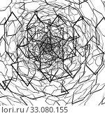 Abstract chaos background with mess of geometric figure. Stylized random design elements on white. Vector. Стоковая иллюстрация, иллюстратор Dmitry Domashenko / Фотобанк Лори