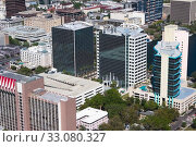 Aerial view of buildings in a city, Orlando, Florida, USA. Стоковое фото, фотограф JCB Prod / PantherMedia / Фотобанк Лори