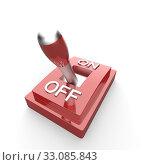 Купить «the red 3d toggle switch - off», фото № 33085843, снято 27 февраля 2020 г. (c) PantherMedia / Фотобанк Лори