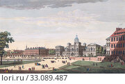 A view of the Parade of St. James Park, the new buildings for the horse guards, the Admiralty with His Majesty going to the House of Lords Etc. From an... (2018 год). Редакционное фото, фотограф Classic Vision / age Fotostock / Фотобанк Лори