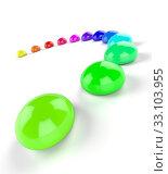 Купить «3D rainbow semicircle of color drops 2», фото № 33103955, снято 27 февраля 2020 г. (c) PantherMedia / Фотобанк Лори