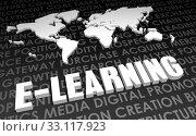 Купить «E-Learning», фото № 33117923, снято 24 февраля 2020 г. (c) PantherMedia / Фотобанк Лори