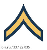 Купить «American Private insignia rank badge», фото № 33122035, снято 24 февраля 2020 г. (c) PantherMedia / Фотобанк Лори