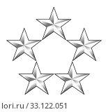Купить «American General insignia rank badge», фото № 33122051, снято 24 февраля 2020 г. (c) PantherMedia / Фотобанк Лори