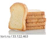 Купить «Golden brown toast», фото № 33122463, снято 11 июля 2020 г. (c) PantherMedia / Фотобанк Лори