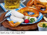 bavarian oktoberfest meal. Стоковое фото, фотограф Thomas Klee / PantherMedia / Фотобанк Лори