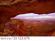 Mesa Arch in Canyonlands National Park Utah USA. Стоковое фото, фотограф TONO BALAGUER / PantherMedia / Фотобанк Лори