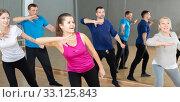 Купить «People enjoying active dances», фото № 33125843, снято 17 февраля 2020 г. (c) Яков Филимонов / Фотобанк Лори
