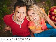 Купить «Cheerful couple», фото № 33129647, снято 9 апреля 2020 г. (c) PantherMedia / Фотобанк Лори
