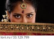 Купить «Mystery young Indian woman», фото № 33129799, снято 17 февраля 2020 г. (c) PantherMedia / Фотобанк Лори