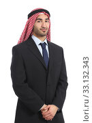 Купить «Arab saudi emirates businessman posing serious», фото № 33132343, снято 14 июля 2020 г. (c) PantherMedia / Фотобанк Лори