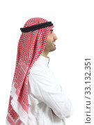 Купить «Profile portrait of an arab saudi emirates man», фото № 33132351, снято 14 июля 2020 г. (c) PantherMedia / Фотобанк Лори