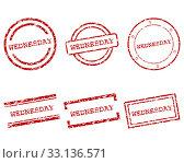 wednesday stamp. Стоковое фото, фотограф Robert Biedermann / PantherMedia / Фотобанк Лори