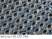 Купить «Big array of metal nuts», фото № 33137743, снято 26 мая 2020 г. (c) PantherMedia / Фотобанк Лори