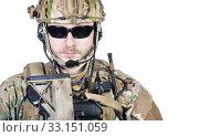 Купить «special warfare operator», фото № 33151059, снято 6 июня 2020 г. (c) PantherMedia / Фотобанк Лори