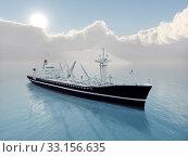 Купить «cargo ship», фото № 33156635, снято 2 июня 2020 г. (c) PantherMedia / Фотобанк Лори