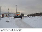 Улица Первомайская в городе Кандалакше в феврале 2020 года. Редакционное фото, фотограф александр лупкин / Фотобанк Лори