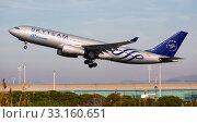 Купить «Airbus of SkyTeam airline alliance taking off at El Prat Airport», фото № 33160651, снято 2 февраля 2020 г. (c) Яков Филимонов / Фотобанк Лори