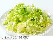 Купить «Iceberg lettuce salad», фото № 33161087, снято 6 июля 2020 г. (c) PantherMedia / Фотобанк Лори