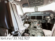 interior view cockpit g550 with steering. Стоковое фото, фотограф Nils Weymann / PantherMedia / Фотобанк Лори